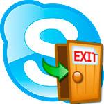 Как выйти из Skype